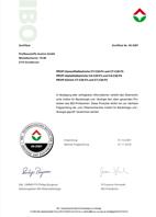 IBO Zertifikat Profibaustoffe Gipsputze 2018