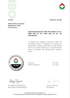 IBO Zertifikat Profibaustoffe Estriche 2018