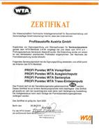 Profibaustoffe WTA-Zertifikat
