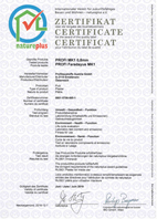 natureplus Zertifikat 2016 MK8 Feinputz