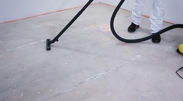 Bodenausgleichsmasse saugen